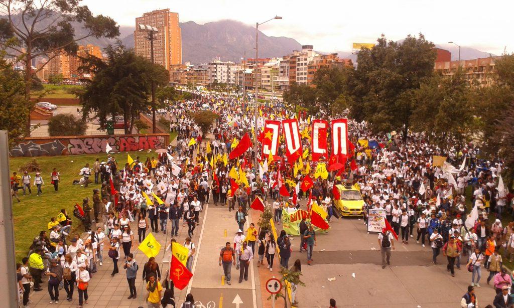 Manifestación por la PAZ, Bogotá