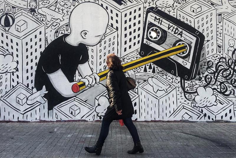Millo, muralista italiano